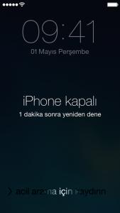 iphone parola sıfırlama