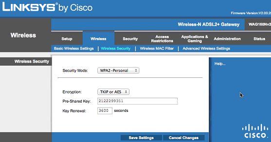 Linksys Wifi Şifre Degistirme Ekranı